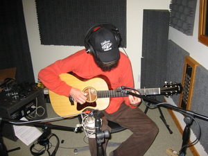 Brian Smith during a MOONSHINE BOOGIE recording session.